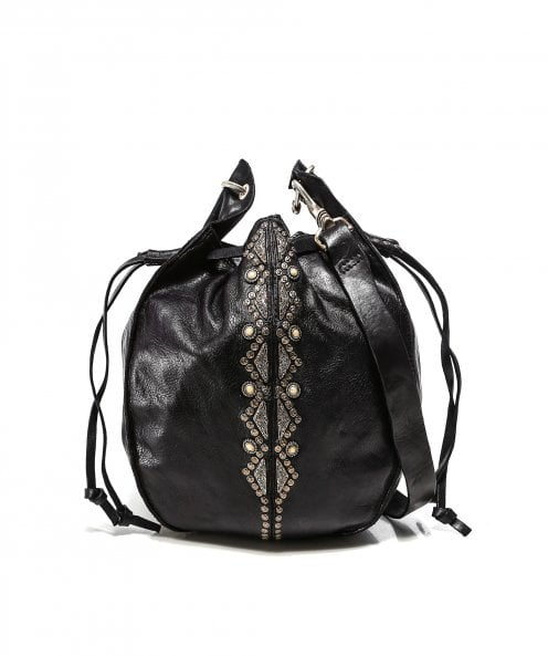 Campomaggi Embellished Leather Bucket Bag