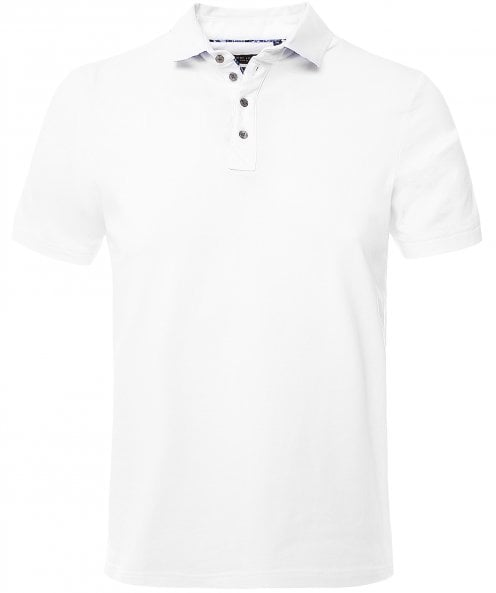 Guide London Floral Trim Polo Shirt