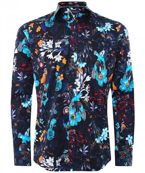 Guide London Bird Print Shirt