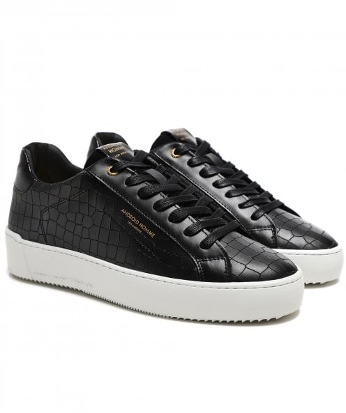 Android Homme Leather Mock Croc Zuma Trainers