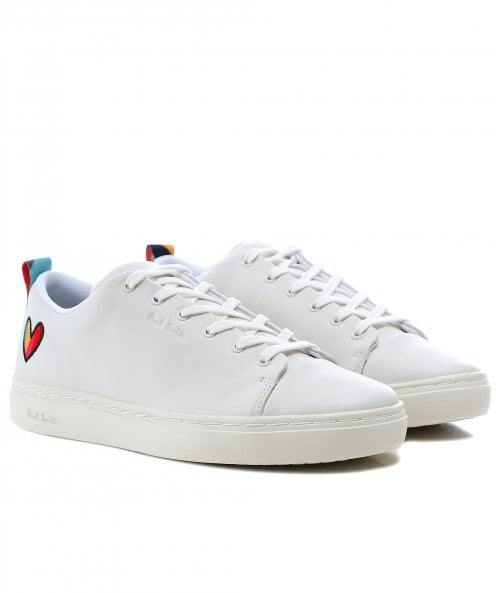 Paul Smith Lee Leather Trainers with Swirl Heart