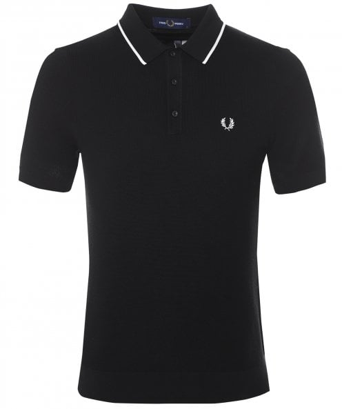 Fred Perry Tipped Knitted Polo Shirt K9560 198