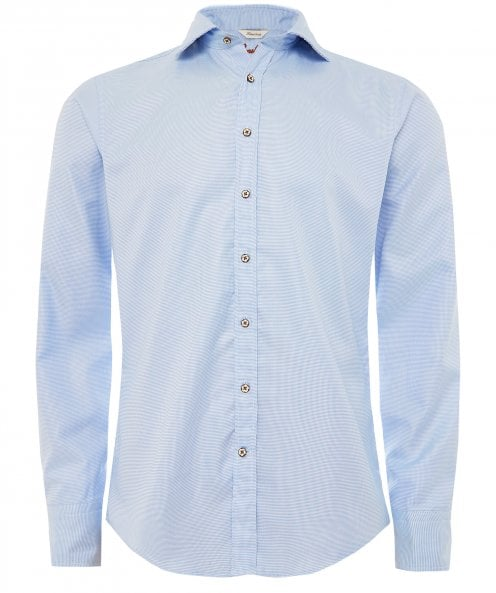 Stenstroms Fitted Body Washed Puppytooth Shirt