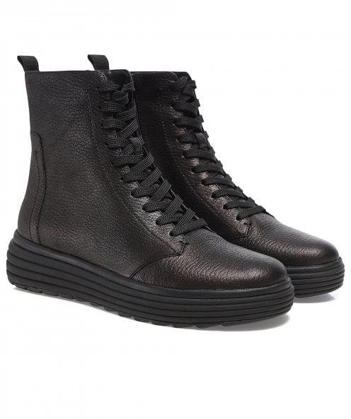 Geox Phaolae Leather Ankle Boots