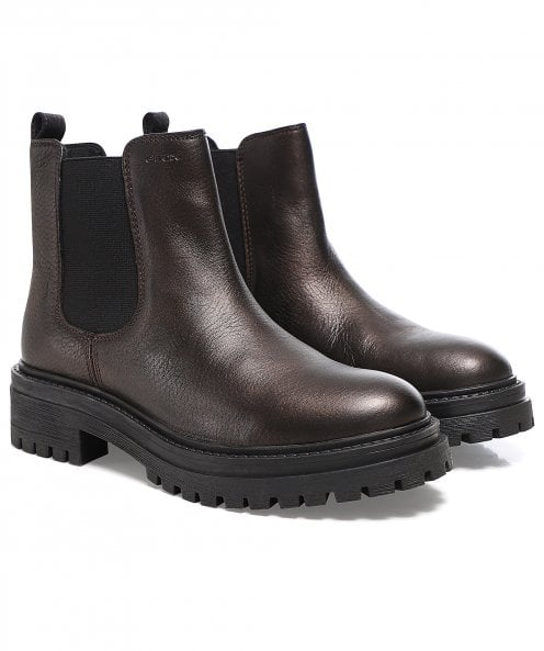Geox Iridea Leather Ankle Boots