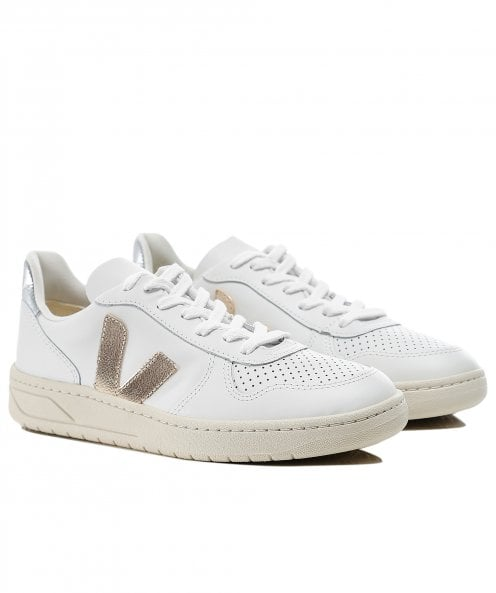 Veja Women's V10 Leather Trainers