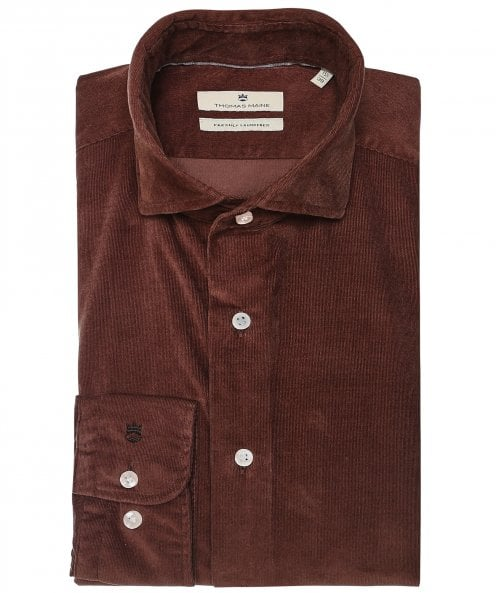 Thomas Maine Tailored Fit Baby Cord Shirt