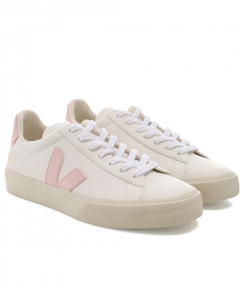 Veja Women's Campo Leather Pink V Trainers