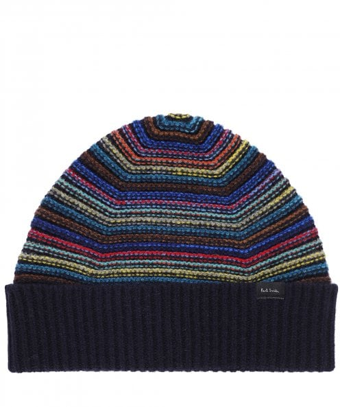 Paul Smith Lambswool Striped Beanie Hat