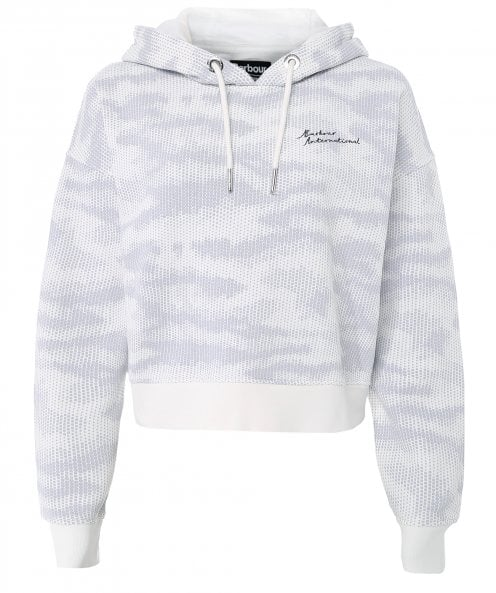 Barbour International Galvez Cotton Cropped Hoodie