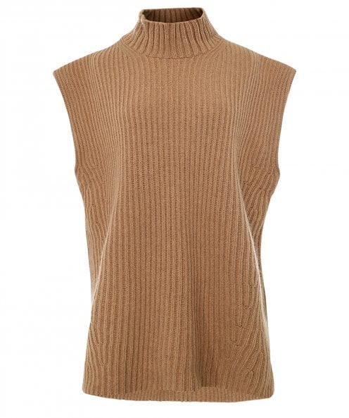 GANNI Recycled Ribbed Knit Vest