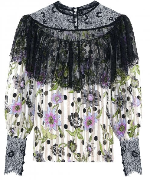 Hayley Menzies Florence Silk Frill Blouse