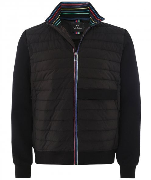 Paul Smith Quilted Mixed Media Jacket