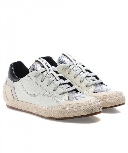 Andia Fora Lace Up Leather Trainers