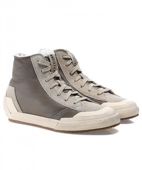 Andia Fora Leather Skater Trainers