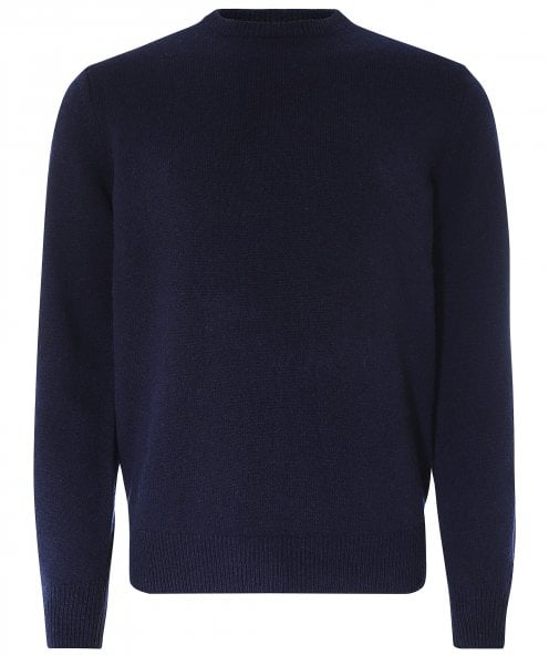 Barbour Wool Crew Neck Patch Jumper