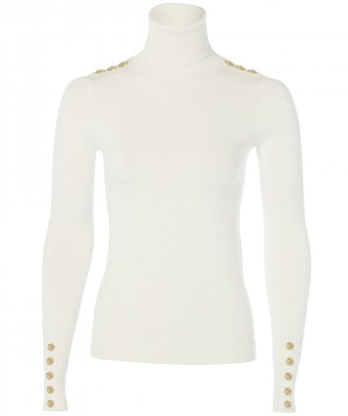 Holland Cooper Buttoned Roll Neck Top