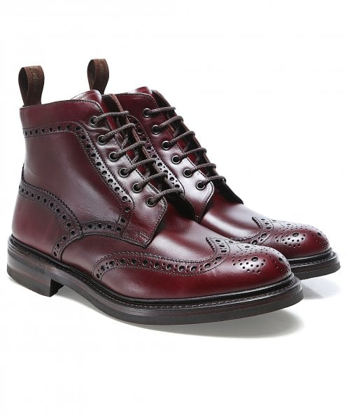 Loake Leather Bedale Brogue Boots