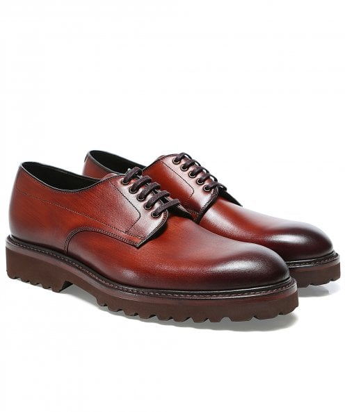 Loake Leather Freud Derby Shoes