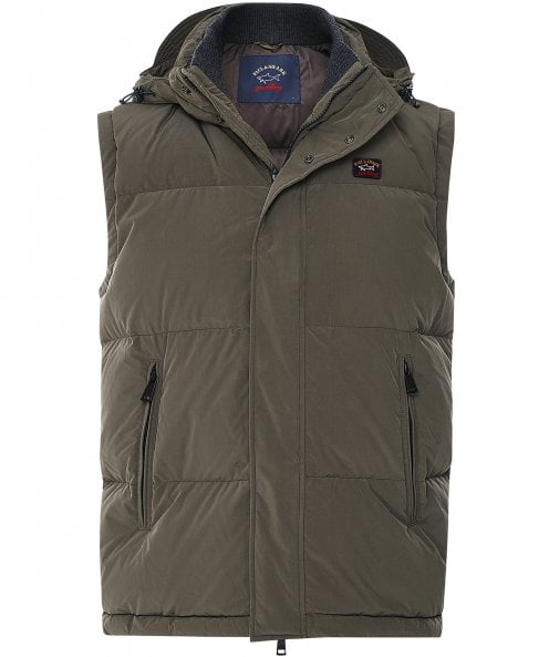 Paul and Shark Down Quilted Hooded Gilet