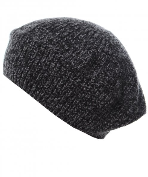 GANNI Ribbed Recycled Wool Beret