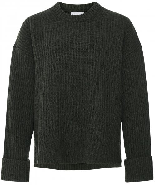 GANNI Recycled Ribbed Knit Sweater