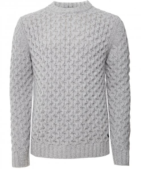 Thomas Maine Lambswool Cable Knit Jumper