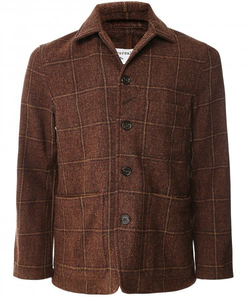 Universal Works Wool Check Bakers Chore Jacket