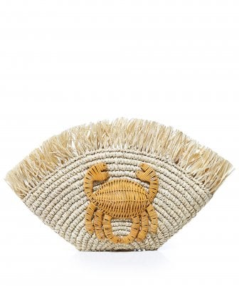 Malia Woven Crab Clutch Bag