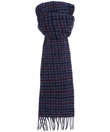 Wool Houghton Check Scarf