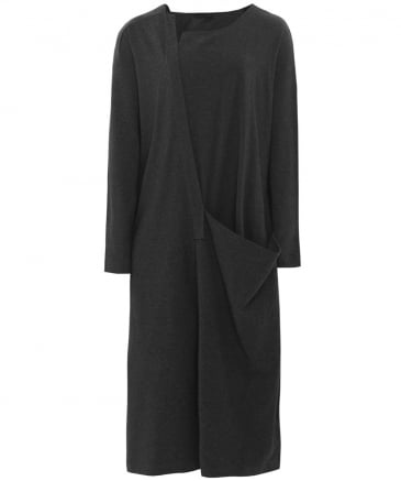 Stretch Jersey Drape Dress