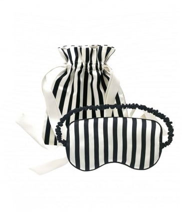 Striped Silk Eye Mask