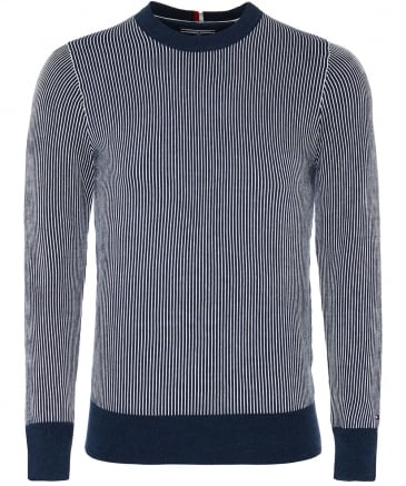 Cotton Crew Neck Striped Jumper