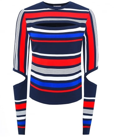 Gigi Hadid Striped Jumper