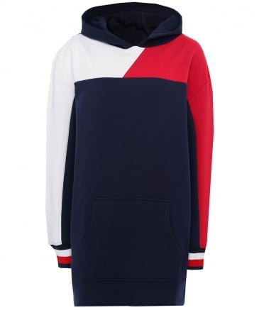 Bekki Colour Blocked Hoodie Dress