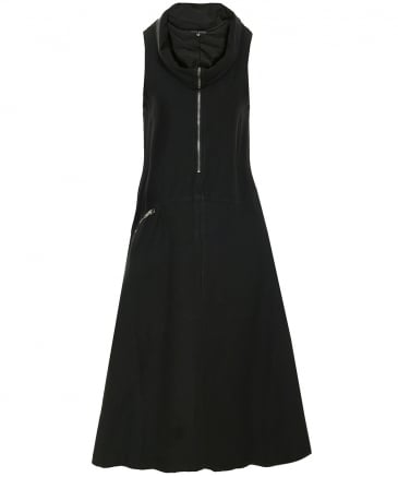 Asymmetric Roll Neck Dress