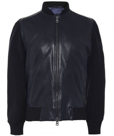 Leather Jayger Bomber Jacket
