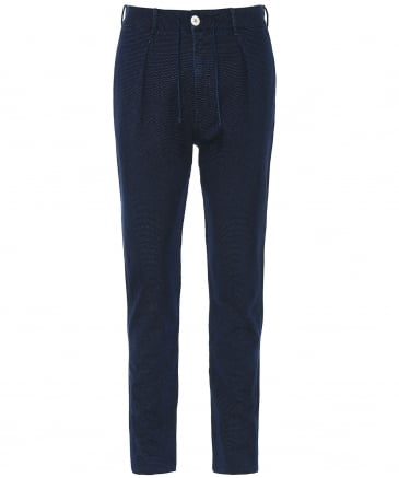 Stretch Cotton Micro Pattern Trousers