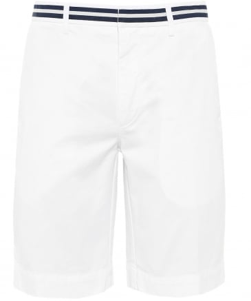Striped Waistband Chino Shorts