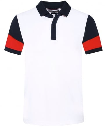 Regular Fit Pique Colour Block Polo Shirt