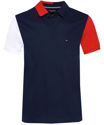 Regular Fit Colour Block Polo Shirt