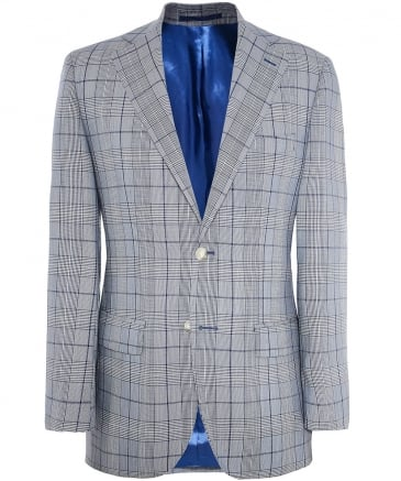 Slim Fit Wool Prince of Wales Check Jacket