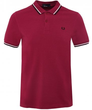 aa41abb5 Fred Perry Dark Pink Twin Tipped M3600 Polo Shirt