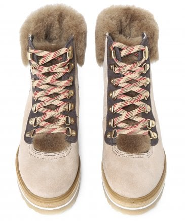 Kanna Women's Suede Mery Walking Boots
