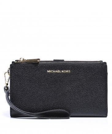 Michael Kors Women's Mercer Pebble Leather Phone Wristlet
