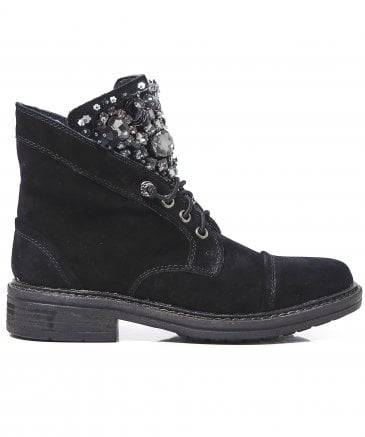 Alma en Pena Women's Suede Crosta Jewelled Boots