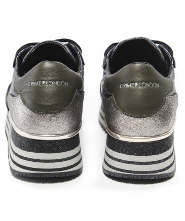 Crime London Women's Glitter Dynamic Trainers