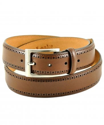 Leather Charles Brogue Belt