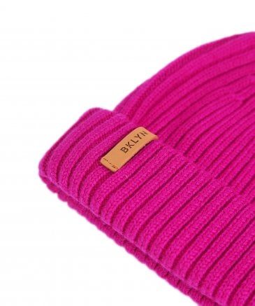 BKLYN Women's Merino Wool Beanie Bobble Hat