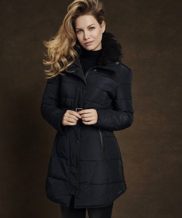 Rino and Pelle Women's Blush Long Puffa Jacket
